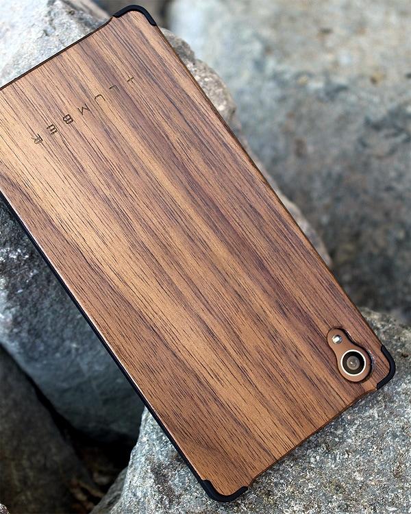 丈夫なハードケースと天然木を融合したXperia™ Z4専用木製ケース