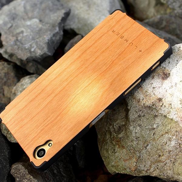 丈夫なハードケースと天然木を融合した Xperia Z5専用木製ケースもご用意しました