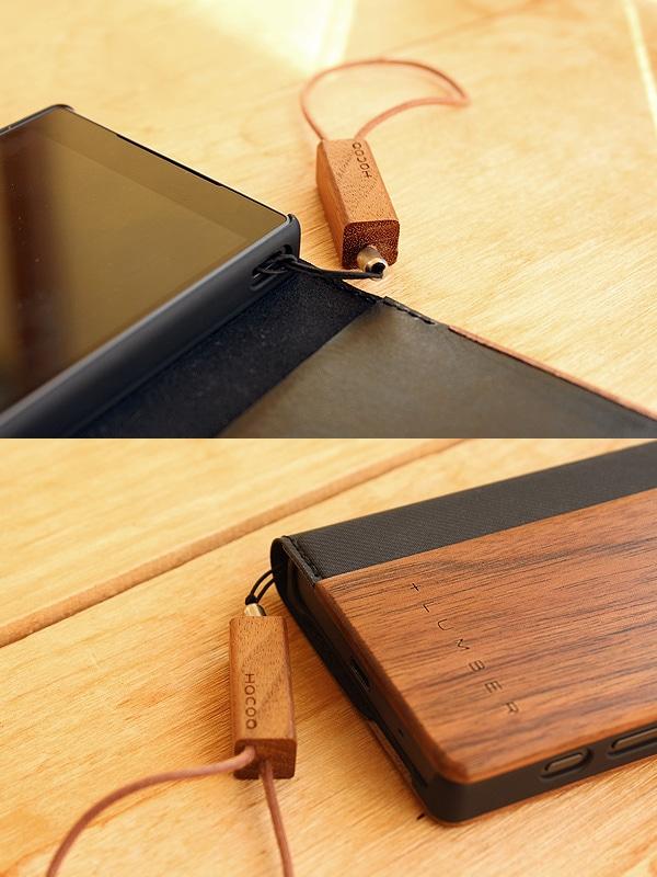 別売の木製ストラップ「Tazuna」にも対応