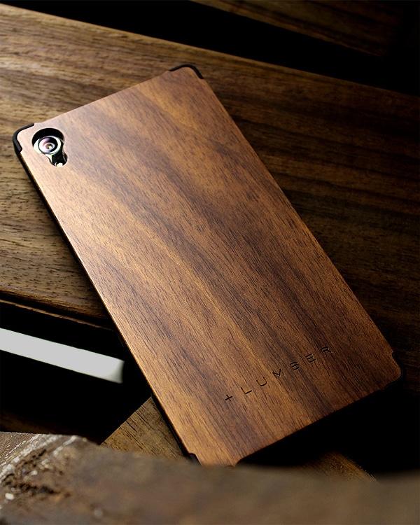 丈夫なハードケースと天然木を融合したXperia Z5 Premium専用ケース