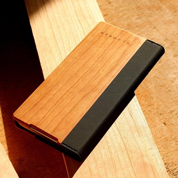 手帳型の木製スマートフォンケースXperia™ Z5専用フリップケースもご用意しました