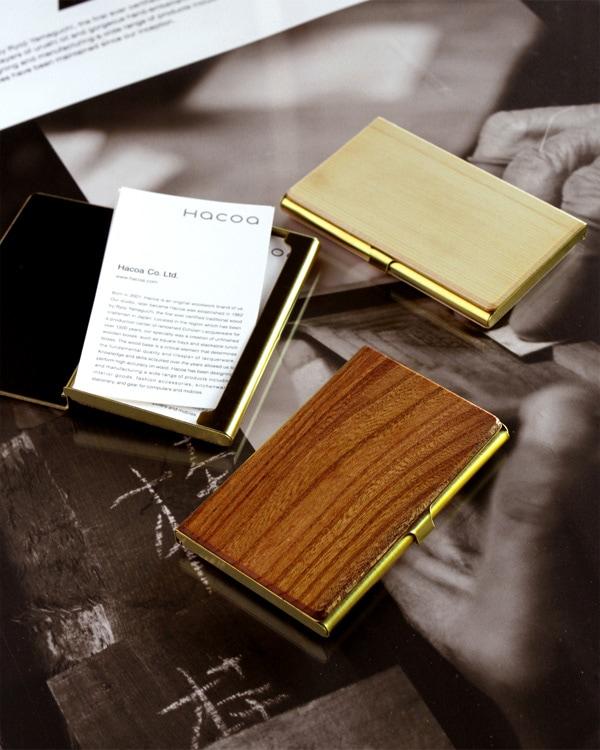 【20周年記念】使う程に愛着が生まれる国産材と真鍮のカードケース・名刺入れ「Brass Card Case」