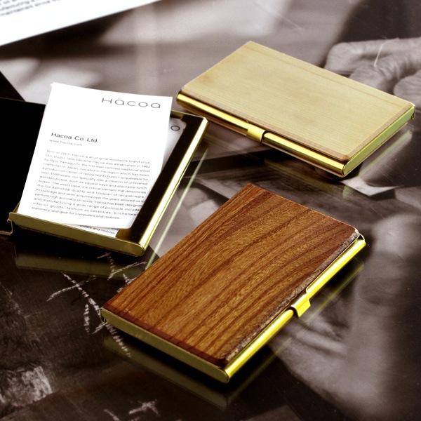 国産材と真鍮のカードケース「Brass Card Case」