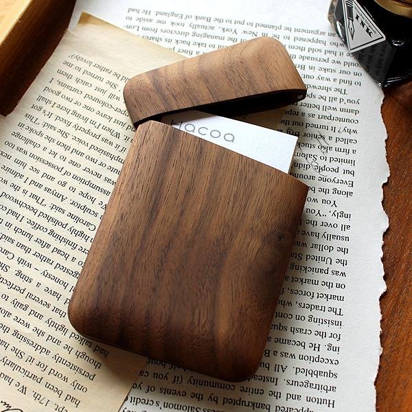 【通常モデル:チェリー・ウォールナット】木製名刺入れ「Card Case Gentle」
