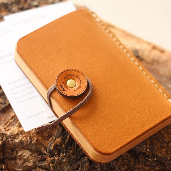 【Hacoa×HERZ】木と革の名刺ケース「BOOK CARDCASE」