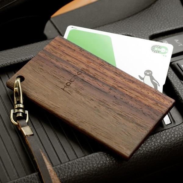 木製ICパスケース・カードケース定期入れ