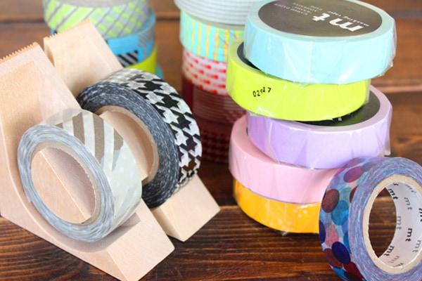 マスキングテープの木製テープカッター「Ki-de-Kiru MT」