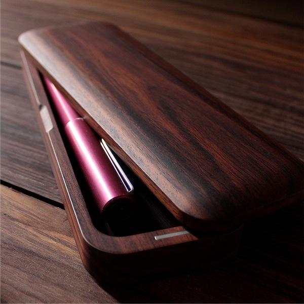 こだわりの木の筆箱「Pen Case Gentle(ローズウッド)」