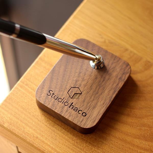 【レーザー刻印代込】ショップロゴをレーザー刻印できる木製ペンスタンド(専用ペン1本付属)