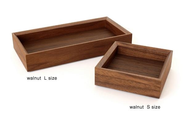 高級木材ウォールナットを使用したトレイ