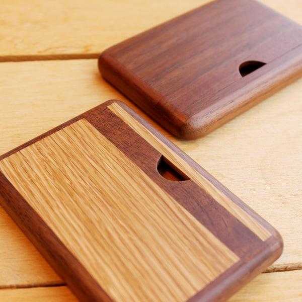 横型の木製名刺ケース<ササキ工芸ブランド>