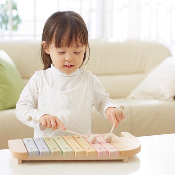 遊びながら楽しく音感が身につく木製シロフォン・木琴