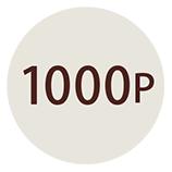 会員登録で1000ポイントプレゼント!