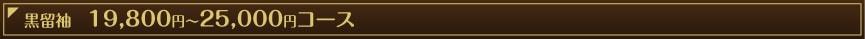 黒留袖 19,800コース
