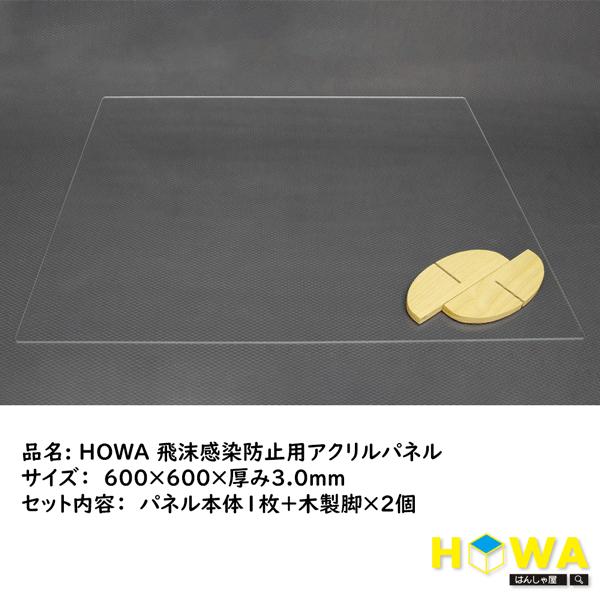 HOWA製 飛沫感染防止アクリルパネル セット内容