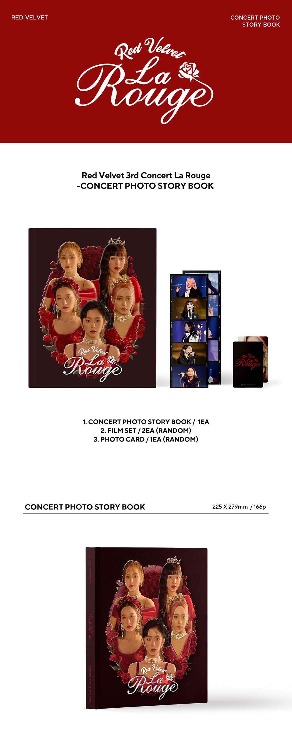 red velvet 3rd concert photo story book