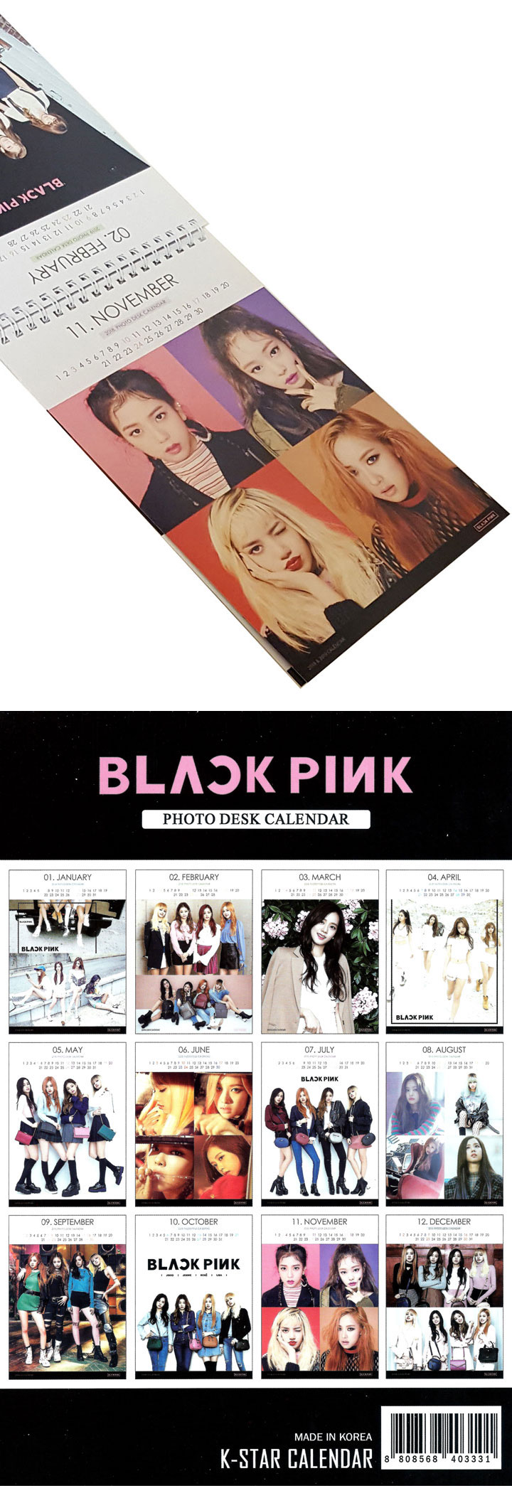 【BLACK PINK】ブラックピンク 2018/2019卓上カレンダー 新入荷