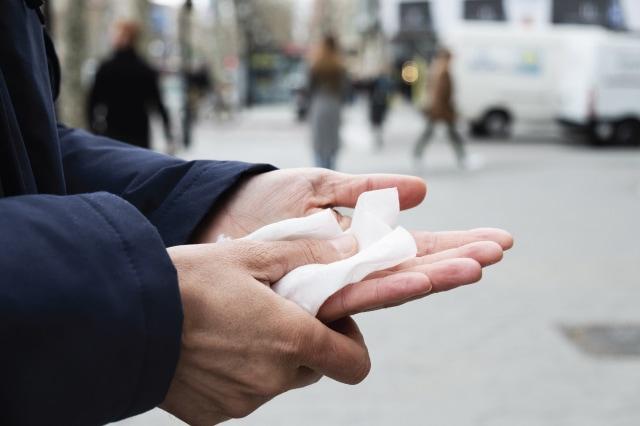 外出先で手を洗浄したい時に