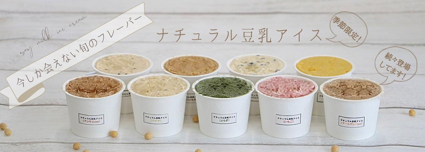 ナチュラル豆乳アイス