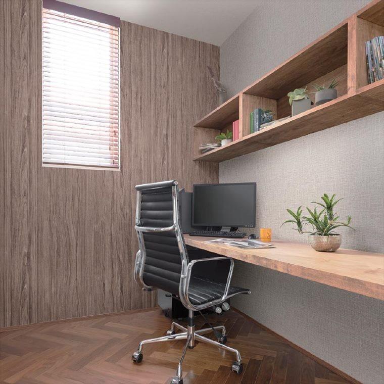 ルノン、パターンの壁紙を使ったお部屋