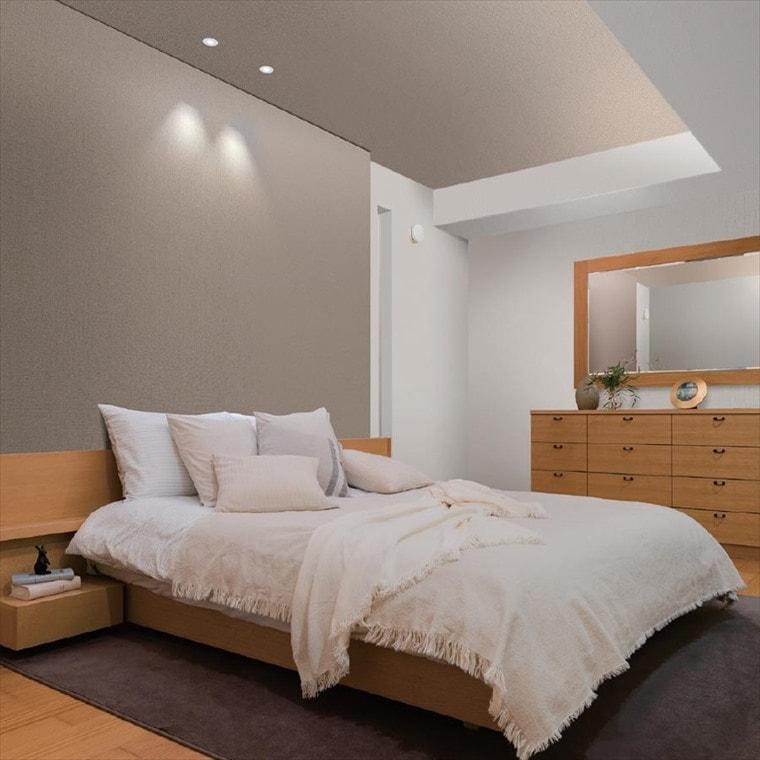 ルノン、テクスチャー&カラー 織物調の壁紙を使ったお部屋