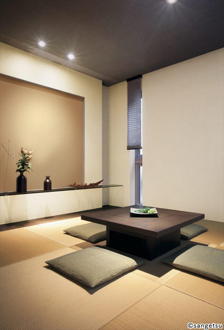 サンゲツSPクロス和調を貼ったリアルな質感が特徴のすっきりとした部屋
