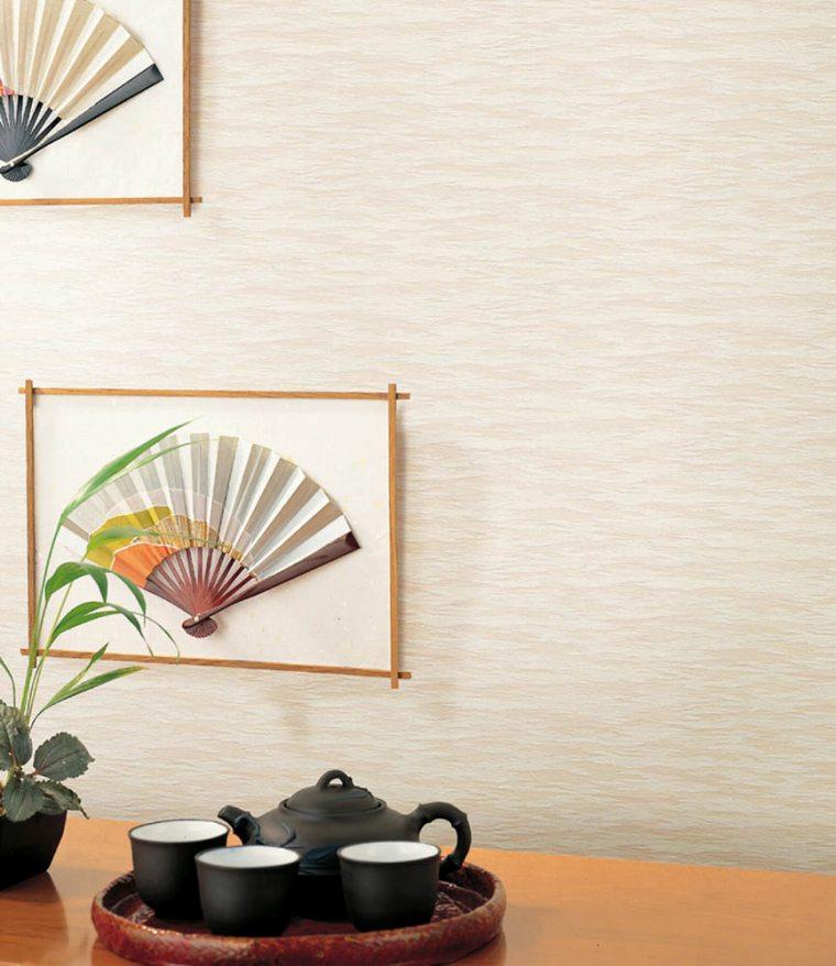 シンコール、ベストの織物調クロスを貼った部屋