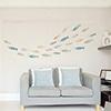 シンコール ベストに掲載のグラフィックステッカー BBT4567(透明フィルムタイプ) カラフルなお魚デザイン