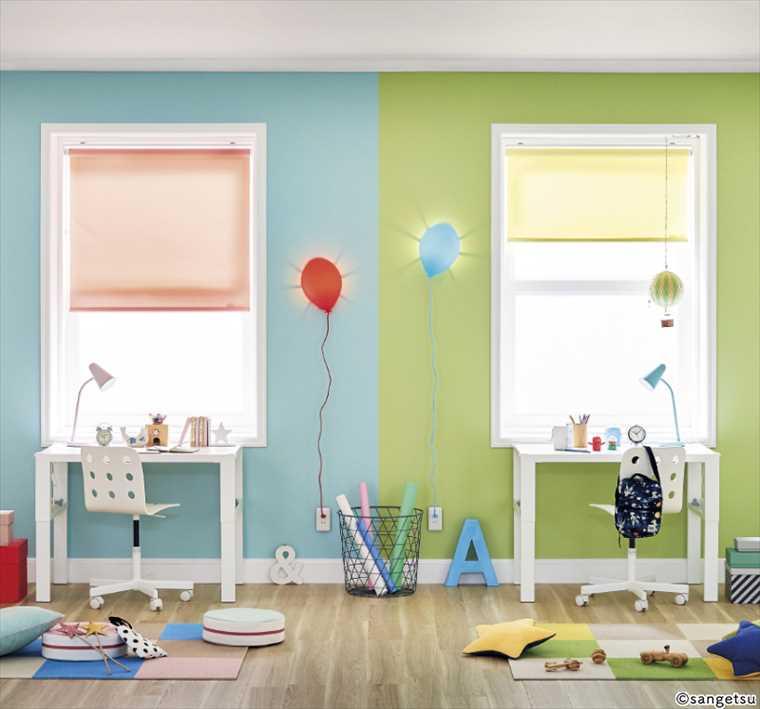 サンゲツファインFE6111クロスの施工イメージ カラーパレット