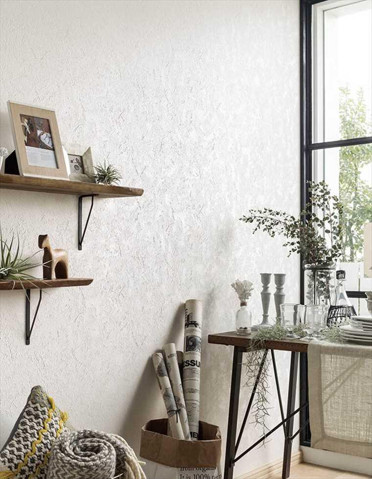 シンコール、エスエルプラスの壁紙石目調 を貼った部屋