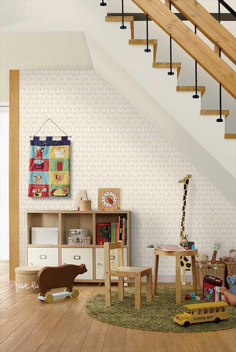 シンコール、エスエルプラスの壁紙パターン を貼った部屋