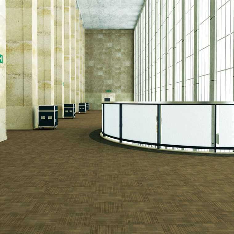 スミノエのタイルカーペット施工イメージ