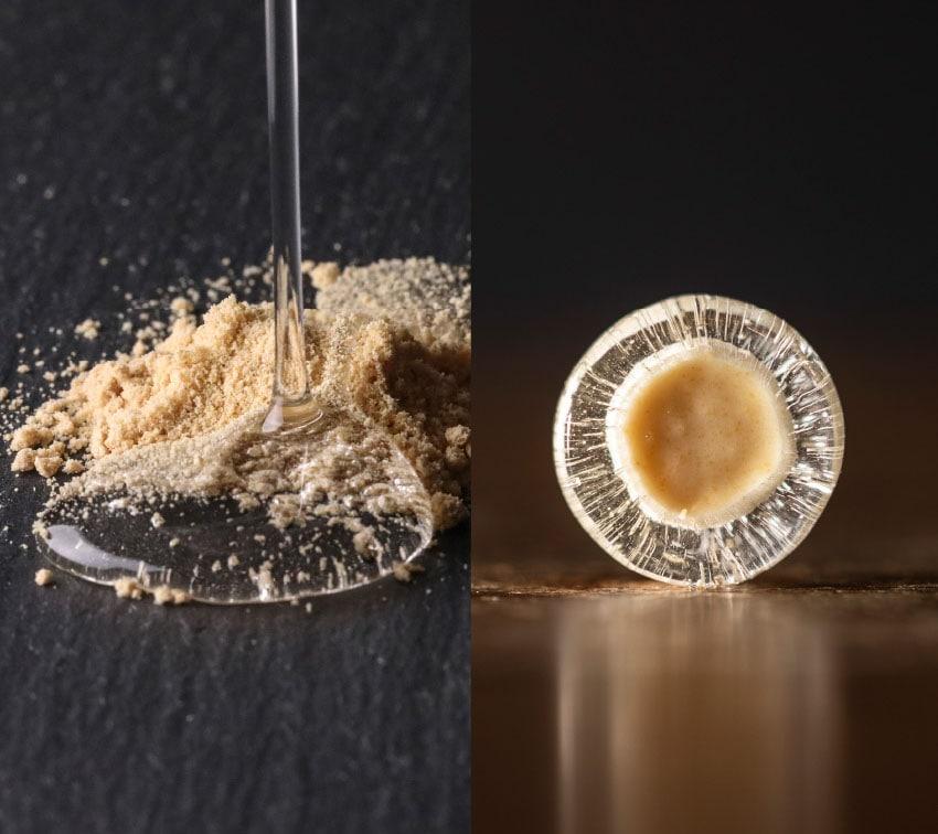 粉なっとうと、液体のオリゴ糖
