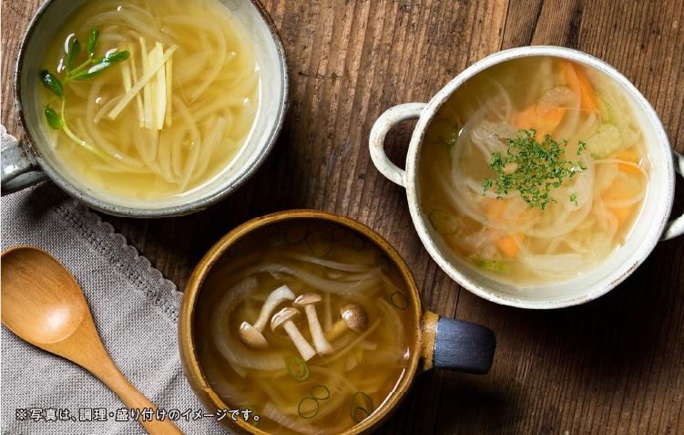 調理されたなっとうスープ3種