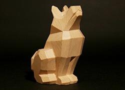 こころの木彫り「招福 いぬ」