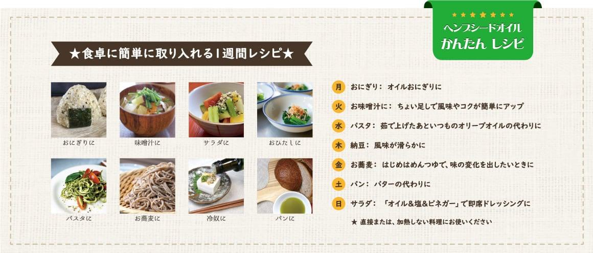 食卓に簡単に取り入れる1週間レシピ