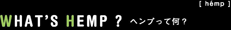 [ hémp ] WHAT'S HEMP ?