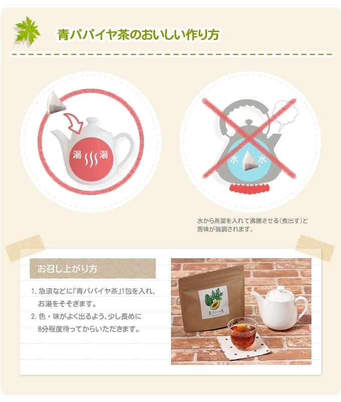 青パパイヤ茶のおいしい作り方