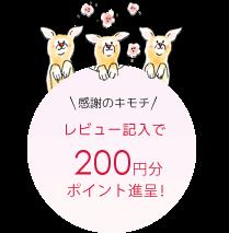 感謝の気持ち レビュー記入で200円分ポイント進呈!