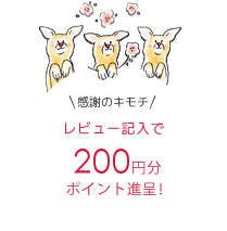 感謝の気持ち レビュー記入で200円分ポイント進呈!