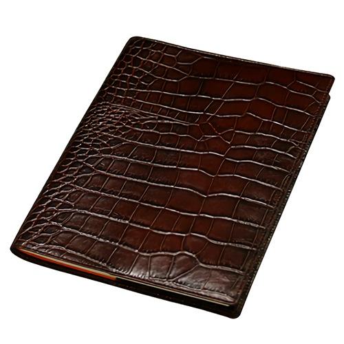 クロコ型押しA5本革手帳カバー