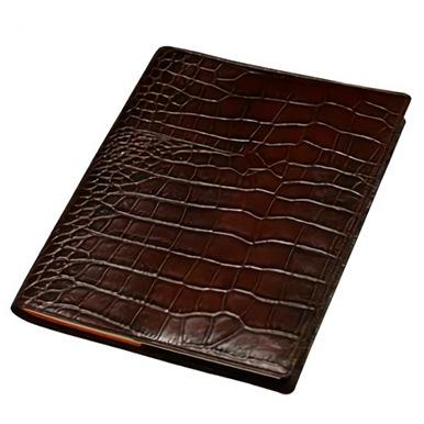 クロコ型押しB6本革手帳カバー