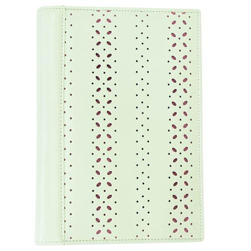 パンチングホワイトB6本革手帳カバー