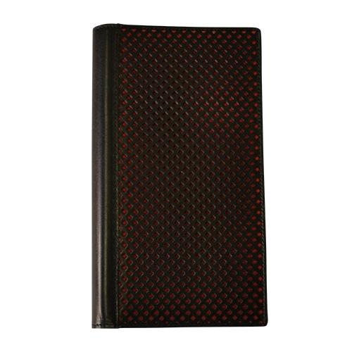 パンチングブラックA5本革手帳カバー