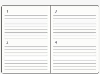 1ページ2日の手帳タイプ
