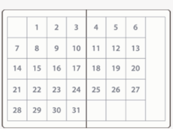 月間カレンダータイプの手帳