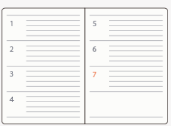週間メモタイプの手帳
