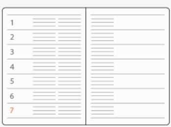 週間ゾーンタイプの手帳