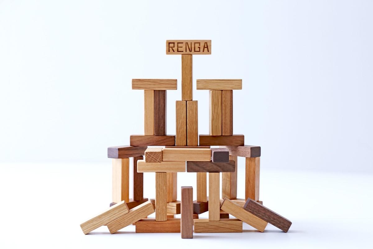 レンガ 知育玩具 おもちゃ 木製 国産