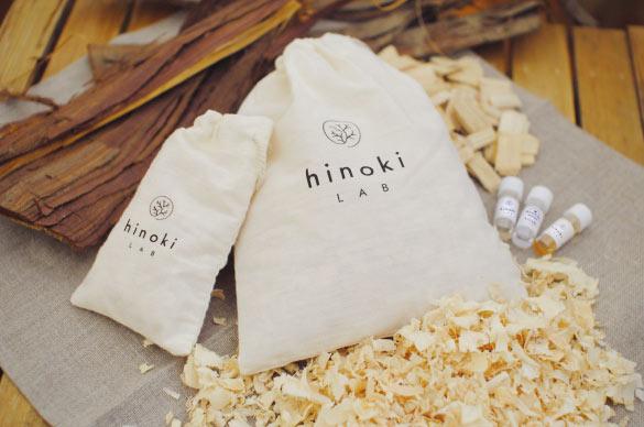 岡山の天然素材からうまれた hinoki LAB アロマサシェ